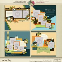 Lucky Boy Digital Scrapbooking Templates - Children Kids Boys