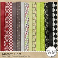 Master Chef Digital Scrapbooking Kit Cooking Recipes Baking