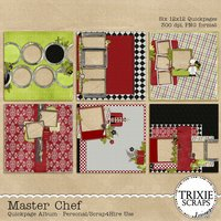 Master Chef Digital Scrapbooking Quickpages Cooking Recipes