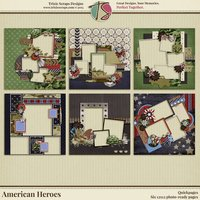 American Heroes Digital Scrapbooking Quickpages - Military Veteran Patriotic