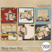 Blue Jean Boy Digital Scrapbooking Quickpages