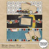 Blue Jean Boy Digital Scrapbooking Facebook Timelines