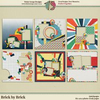 Brick by Brick Digital Scrapbooking Quickpages