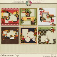 Crisp Autumn Days Digital Scrapbooking Quickpages