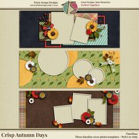 Crisp Autumn Days Digital Scrapbooking Timelines
