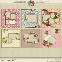 Ewe Loves Ya? Digital Scrapbooking Quickpages - Valentine's Day Love