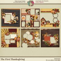 The First Thanksgiving Digital Scrapbooking Quickpages
