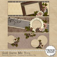 God Gave Me You Digital Scrapbooking Facebook Timelines