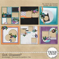 Got Glasses? Digital Scrapbooking Quickpages
