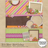 It's Her Birthday Digital Scrapbooking Timeline Covers Facebook