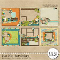 It's His Birthday Digital Scrapbooking Quickpages