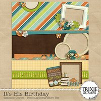 It's His Birthday Digital Scrapbooking Facebook Timeline Covers