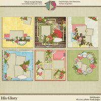 His Glory Digital Scrapbooking Quickpages - Easter Faith Religious