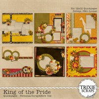 King of the Pride Digital Scrapbooking Quickpages Disney