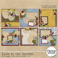 Love in the Garden Digital Scrapbooking Quickpages