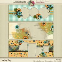 Lucky Boy Digital Scrapbooking Timelines - Children Kids Boys