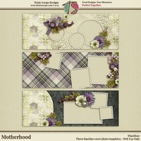 Motherhood Digital Scrapbooking Timelines