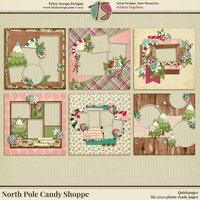 North Pole Candy Shoppe Quickpages by Trixie Scraps Designs
