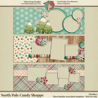 North Pole Candy Shoppe Timelines by Trixie Scraps Designs