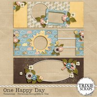 One Happy Day Digital Scrapbooking Timelines