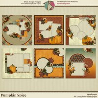 Pumpkin Spice Digital Scrapbooking Quickpages