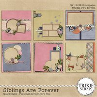 Siblings Are Forever Digital Scrapbooking Quickpages