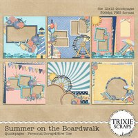 Summer on the Boardwalk Digital Scrapbooking Quickpages