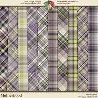 Motherhood Digital Scrapbooking Bonus Papers
