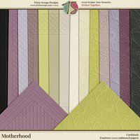 Motherhood Digital Scrapbooking Cardstock