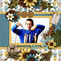 Nature Boy Digital Scrapbooking Embossed Cardstock