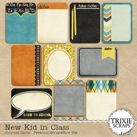 New Kid in Class Digital Scrapbooking Journal Cards