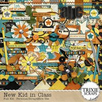 New Kid in Class Digital Scrapbooking Full Kit Elementary School