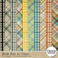 New Kid in Class Digital Scrapbooking Plaid Papers