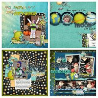 Out of This World Digital Scrapbooking Kit Disney