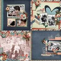 Picture a Family Digital Scrapbooking Full Kit Portraits Memories