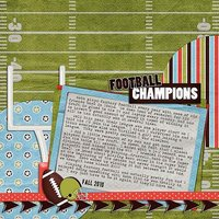 Pigskin Party Digital Scrapbooking Kit Family Sports Football