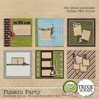 Pigskin Party Digital Scrapbooking Quickpages