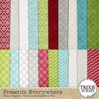 Presents Everywhere Digital Scrapbooking Bonus Papers