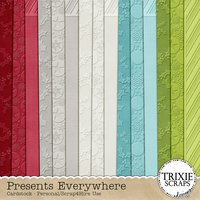 Presents Everywhere Digital Scrapbooking Cardstock
