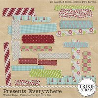Presents Everywhere Digital Scrapbooking Washi Tape