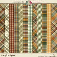 Pumpkin Spice Digital Scrapbooking Bonus Papers