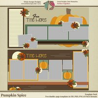 Pumpkin Spice Digital Scrapbooking Templates