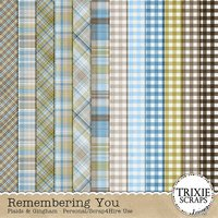Remembering You Digital Scrapbooking Plaids & Gingham