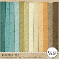 Rescue Me Digital Scrapbooking Cardstock