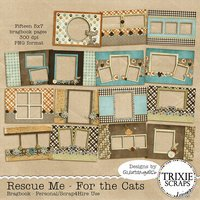 Rescue Me - For the Cats Digital Scrapbooking Bragbook