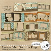 Rescue Me - For the Dogs Digital Scrapbooking Bragbook