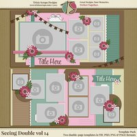 Seeing Double volume 14 Digital Scrapbooking Template Pack