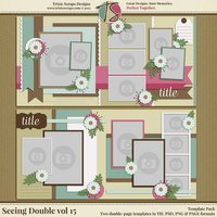 Seeing Double volume 15 Digital Scrapbooking Template Pack
