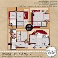 Seeing Double volume 7 Digital Scrapbooking Templates PSD/TIF/PAGE