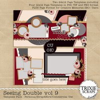Seeing Double volume 9 Digital Scrapbooking Templates PSD/TIF/PAGE